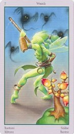 The Seven of Wands tarot card meaning