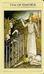 The Ten of Swords tarot card meaning