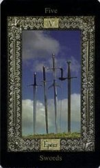 The Five of Swords tarot card meaning