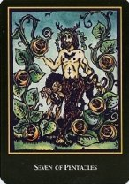 The Seven of Coins tarot card meaning