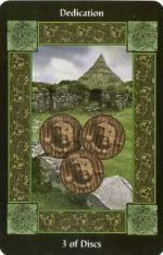 meaning of the Three of Pentacles  tarot card
