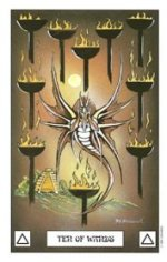 meaning of the Ten of Wands  tarot card