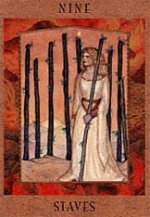meaning of the Nine of Wands  tarot card