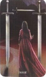 meaning of the Three of Swords tarot card