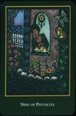 meaning of the Nine of Pentacles  tarot card