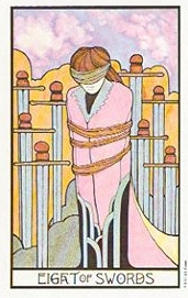 The Eight of Swords tarot card meaning