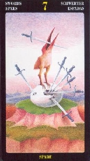 The Seven of Swords tarot card meaning