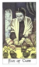 meaning of the Five of Cups tarot card