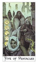 The Five of Coins tarot card meaning
