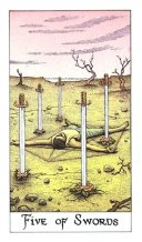 meaning of the Five of Swords tarot card