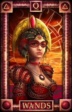 meaning of the Queen of Wands  tarot card
