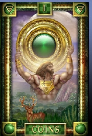 The Ace of Coins tarot card meaning