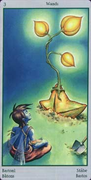 The Threee of Wands tarot card meaning