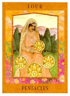 meaning of the Four of Pentacles  tarot card