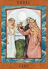 The Three of Cups tarot card meaning
