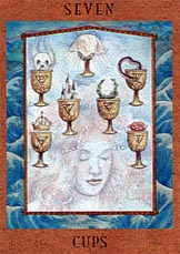 meaning of the Seven of Cups tarot card