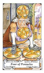 The Four of Coins tarot card meaning