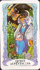 meaning of the Queen of Coins  tarot card