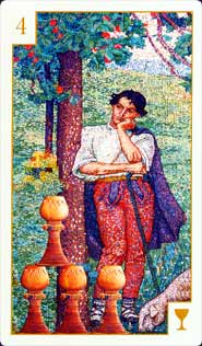 The Four of Cups tarot card meaning