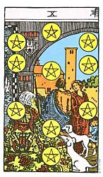 Ten of Coins Tarot card meaning