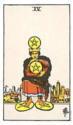 Four of Coins Tarot card meaning