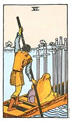Six of Swords Tarot card meaning