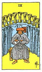 Nine of Cups Tarot card meaning