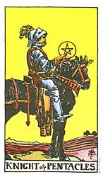Knight of Coins Tarot card meaning