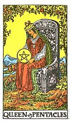 Queen of Coins Tarot card meaning