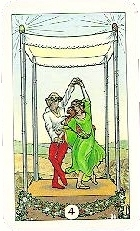 The Four of Wands tarot card meaning