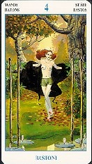 meaning of the Four of Wands  tarot card
