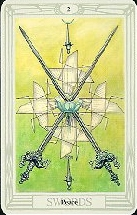 meaning of the Two of Swords tarot card
