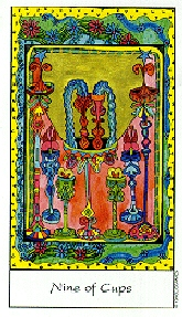 The Nine of Cups tarot card meaning