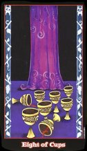 The Eight of Cups tarot card meaning