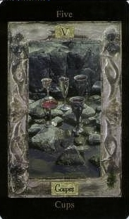 The Five of Cups tarot card meaning