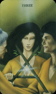 meaning of the Three of Wands  tarot card