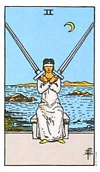 Two of Swords Tarot card meaning