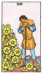 Seven of Coins Tarot card meaning