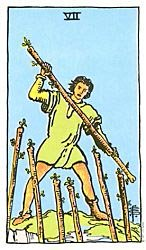 Seven of Wands Tarot card meaning