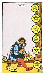 Eight of Coins Tarot card meaning