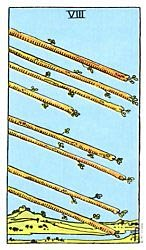 Eight of Wands Tarot card meaning