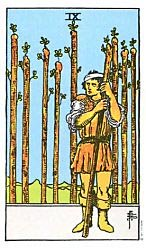 Nine of Wands Tarot card meaning