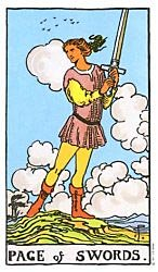 Page of Swords Tarot card meaning