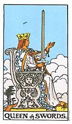 Queen of Swords Tarot card meaning