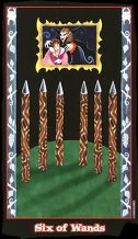 The Six of Wands tarot card meaning