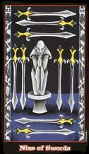The Nine of Swords tarot card meaning