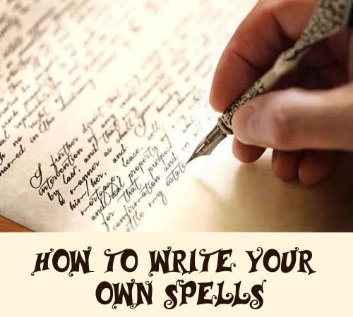 How to make your own spells in witchcraft or Wicca